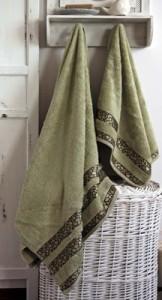 ręcznik bambusowy w kolorze oliwkowym